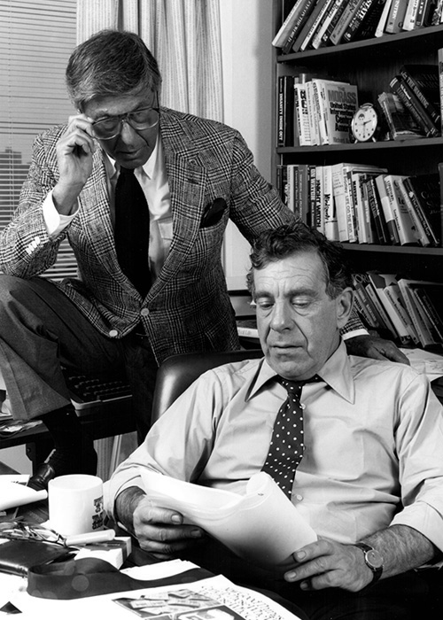 Don Hewitt and Morley Safer